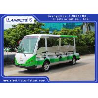 China 4 Wheel Electric Sightseeing Car , 11 Seats Electric Passenger Vehicle With small cargo 72V/7.5KW AC MOTOR for sale