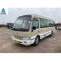 China 20 Seats Mini Toyota Used Coaster Bus With 2TR Gasoline Engine supplier