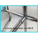 90 Degree 3 Way Flexible Chrome Pipe Connectors / Joints HJ-3 Silvery Color for sale