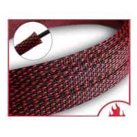 China Flexo PET Expandable Braided Sleeving Custom Size Halogen Free ROHS Compliant supplier