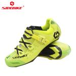 Anti Skid Fluorescent Cycling Shoes , Road Bike Riding Shoes Low Wind Resistance for sale