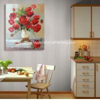 China Modern Floral Palette Knife Oil Painting Still Life Canvas For Wall Decoration supplier