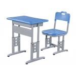 China Double Steel Tube PP Top Table And Chair Set With Big Drawer For Meeting Room for sale