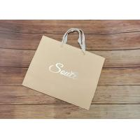 Light Strong Customized Size Design Eco-friendly Paper shopping bags SGS,FDA certificate with white fabric Handle for sale