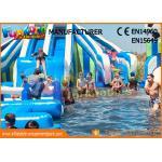 Funworld Large Inflatable Water Slide With Swimming Pool Water Game Pvc Tarpaulin