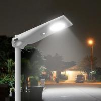 Parking Lot Lamp Integrated Led Solar Street Light Aluminum Lifepo4 Battery for sale