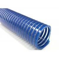 China Spiral Reinforced PVC Suction Hose / Water Pump Pool Discharge Hose For Industry for sale