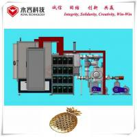 China PVD Gold Plating Machine , Ion Plating Machine For Metal and ABS parts, PVD TiN Gold Plating System on ABS Chrome Parts supplier