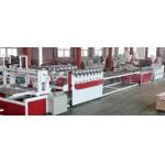 Twin Conical Screw Wood Plastic Production Line For Crust Furniture Board