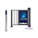 Custom Half Height Turnstiles LCD Screen Outdoor Advertising Face Recognition Access Door For Parking Entrance for sale