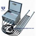 China Outdoor 3-8 Bands IP Control 433MHz RF Mobile Cell Phone WIFI3.6G GPS RF Signal Jammer for sale