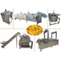 China Continuous Banana Chips Making Machine / Industrial Banana Chips Fryer Machine for sale