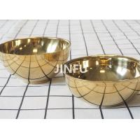 Gold Titanium Bowl Non Toxic And Light Weight High Corrosion Resistance for sale