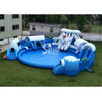 China Snow N ice world giant inflatable water park on land with big inflatable pool for kids N adults for sale