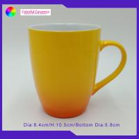Reaction Yellow Promotional Ceramic Cups Microwave Dishwasher Safe for sale
