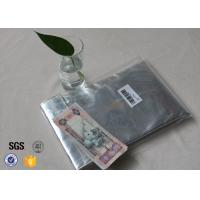 Non Itchy Fiberglass Fabric Fire Resistant Document Pouch / Fireproof Cash Envelope for sale