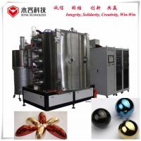 China Thermal Evaporation + Multi Arc Ion Plating Machine on Glass wares, Blue and Gold Decorative Coatings for sale