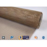 Non-Stick PTFE Coated Fiberglass Open Mesh Conveyor Belt For Food Drying for sale