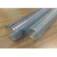 China Food Grade PVC Spring Hose , Transparent Steel Wire Reinforced PVC Pipe / Tubing for sale