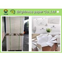 China Glossy Coated Solid White Board , Carton Board Sheets For Making Postcard for sale