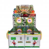 China Factory Cheap Price Happy Football Metal Cabinet Coin Operated Kids Shooting Game Ball Machine supplier
