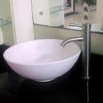 China Single Hand Lead Free Stainless Steel Faucet Commercial Bathroom Taps for sale