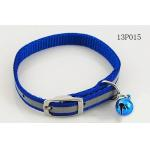 Blue Fashion Webbing Rope Dog Leash With Small Bell And Buckle 3cm Width for sale