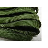 China Green Nomex Electrical Braided Sleeving Wear Resistant For Cable Management for sale