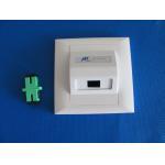 Wall Mounted Fiber Optic Termination Optical fiber face plate Fiber Surface Mount Socket for FTTH for sale
