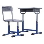 China Student Study Table And Chair Set Lifting 1.5mm Iron Aluminum Frame for sale