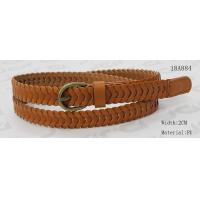 Classic 2cm Womens Braided Belt , Ladies Braided Belts With Antic Brass Buckle & PU Tip for sale