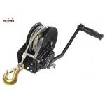 China Black Mini Manual Hand Winch 1800lbs With Self - Locking Little Efforts for sale