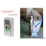 Outdoor Durable Theftproof Fingerprint Turnstile Barrier Gate 304 Stainless Steel for sale