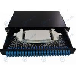 Sliding 1U 48 Cores Fiber Optic Patch Panel SC Duplex Type ODF Wall Mounted for sale