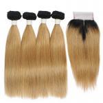 China Color 613# 20 inch Grade 6A Virgin Hair Bundles 100 Russian Hair Weaving for sale