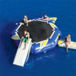 China 0.9mm PVC Tarpaulin Round Inflatable Water Sports / Inflatable Aqua Jump Eclipse Water Park factory