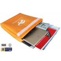 Non Itchy Fireproof Document Bag 1523 ℉ Envelope Pouch 11x15x2 Orange for sale