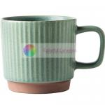Creative Custom Embossed Mugs Solid Color Corrugated Ceramic Coffee Cup for sale