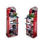 Helmet floor displays with shelf retail display stand ENFD005 for sale