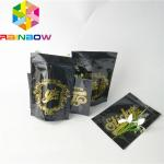Logo Custom Plastic Pouches Packaging Glossy Foil Weed Seed Mylar Zipper Doypack Bags for sale