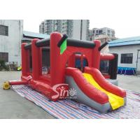 China Commercial outdoor kids red combos with slide for amusement park from Sino factory for sale