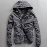 China Lightweight Nylon Waterproof Men'S Windbreaker Jacket Black Or Custom Color for sale