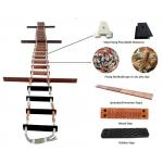 Wood Manila Boat Rope Ladder , Customized Width Emergency Rope Ladder for sale