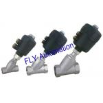 2000 Threaded Port 2/2 Way Angle Seat Valve Integrated PA Pneumatic actuator for sale