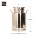 China Stainless Steel 304 Transport 25L Milk Storage Can for sale
