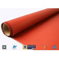 China 0.46 Mm Red Fire Resistance Insulation Silicone Coated Glass Fiber Fabric for sale