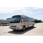 China 4×2 Commercial Toyota Coaster Motorhome Vehicles Folding Door Staff Small ISUZU Engine for sale