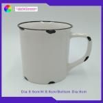 Enamel Glazed White Ceramic Coffee Mugs New Bone China Mug With Glaze for sale