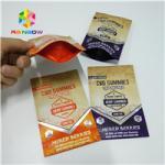 Long Lifespan Foil Pouch Packaging Heat Seal 1/8oz 1/2oz 1oz CBD Gummies Bag for sale