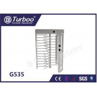 CE Approved Full Height Turnstile Revolving Door 30 Persons / Min Transit Speed for sale